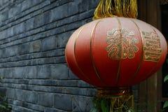 Czerwony chiński lampion zdjęcie royalty free