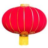 Czerwony Chiński lampion na białym tle. obrazy stock