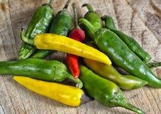 Czerwony chili inny i pieprz pieprzymy obraz stock