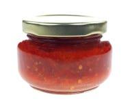Czerwony Chili pasty słój Obrazy Royalty Free