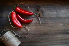 Czerwony chili pieprz Zdjęcia Stock