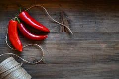 Czerwony chili pieprz Zdjęcia Royalty Free