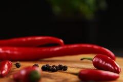 Czerwony chili pieprze Zdjęcia Stock