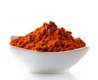 Czerwony chili proszek obraz royalty free