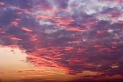 czerwony chmury Fotografia Royalty Free
