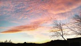 czerwony chmury Obrazy Royalty Free