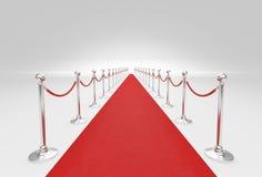 Czerwony chodnik i bariery arkana Zdjęcie Stock
