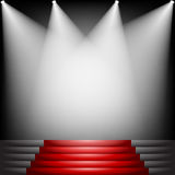 Czerwony chodnik i schodki Zdjęcia Stock