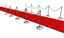 Czerwony chodnik w studiu Fotografia Stock