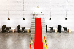 Czerwony chodnik w wnętrzu ilustracji