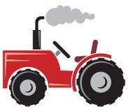 Czerwony ciągnik royalty ilustracja