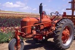 czerwony ciągnika Zdjęcie Stock