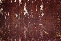 Czerwony ciemny drewniany przegniły i grunge tekstury tło Fotografia Royalty Free