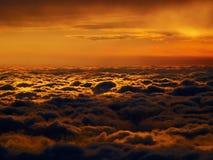 Czerwony cloudscape Obraz Royalty Free