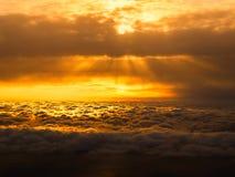 Czerwony cloudscape nad morze Obraz Stock
