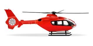 Czerwony Copter Pasa?erski cywilny helikopter Realistyczny przedmiot na bia?ym tle r?wnie? zwr?ci? corel ilustracji wektora ilustracji