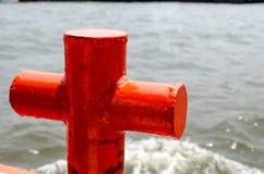 Czerwony cumowniczy maszt Obrazy Stock
