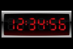 czerwony cyfrowa zegara Obrazy Stock
