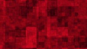 Czerwony cyfrowy hałas z wykoślawieniem royalty ilustracja