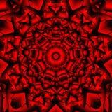 Czerwony czarny kalejdoskop Ilustracja Wektor
