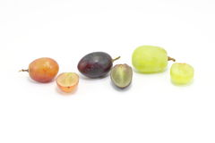 Czerwony czerni zieleni winogrono Zdjęcie Stock