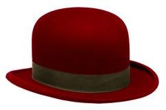 Czerwony dęciak lub Derby kapelusz Zdjęcie Royalty Free