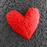 Czerwony 3d serca abstrakt Zdjęcia Royalty Free