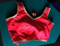 Czerwony damy bluzki przód zdjęcia royalty free