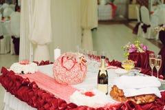 czerwony dekoracja biel Fotografia Stock