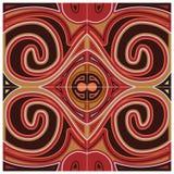 Czerwony dekoracja wzór Obraz Royalty Free