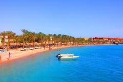 Czerwony Denny wybrzeże, plaża, Hurghada, Egipt Zdjęcie Stock