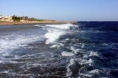 Czerwony Denny wybrzeże, plaża, Hurghada, Egipt Obrazy Royalty Free