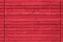 Czerwony deski drewno Zdjęcie Royalty Free