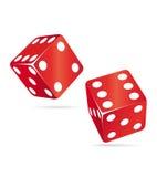 czerwony 2 dices Zdjęcie Stock