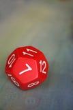 czerwony dodekaedr Obraz Stock