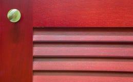 Czerwony Drewniany Gabinetowy abstrakt Ja Fotografia Stock