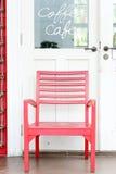 Czerwony drewniany krzesło Fotografia Stock