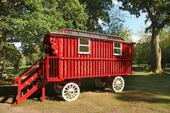 Czerwony drewniany stagecoach obraz stock