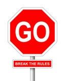 Czerwony drogowy znak Zdjęcie Royalty Free