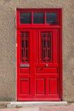 Czerwony drzwi Fotografia Royalty Free