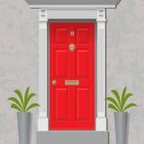 Czerwony drzwi royalty ilustracja