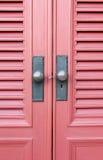 Czerwony drzwi Obraz Royalty Free