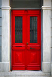 Czerwony drzwi Zdjęcia Royalty Free