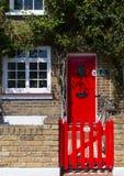 Czerwony drzwi Obrazy Royalty Free
