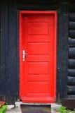 czerwony drzwi drewniane Zdjęcie Royalty Free