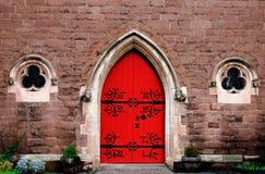 Czerwony drzwi kościół w Birmingham Fotografia Royalty Free