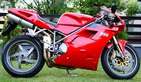 Czerwony Ducati 996s motocykl Obraz Royalty Free