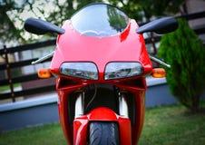 Czerwony Ducati 996s motocykl Zdjęcia Royalty Free