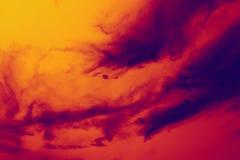 czerwony dym żółty Fotografia Royalty Free