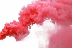 czerwony dym obraz stock